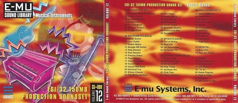 E-MU - Classic Series Vol. 12 - ESI-32 150MB Production Soundset