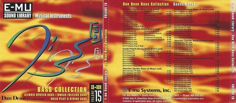 E-MU - Classic Series Vol. 15 - Dan Dean Bass Collection