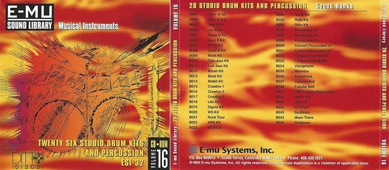 E-MU - Classic Series Vol. 16 - 26 Studio Drum Kits And Percussion