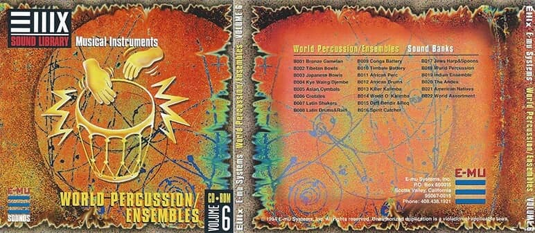 E-MU - Classic Series Vol. 06 - World Percussion-Ensembles