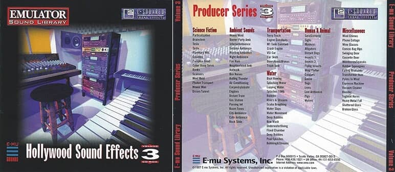 E-MU - Producer Series Vol. 3 - Hollywood Sound Effects