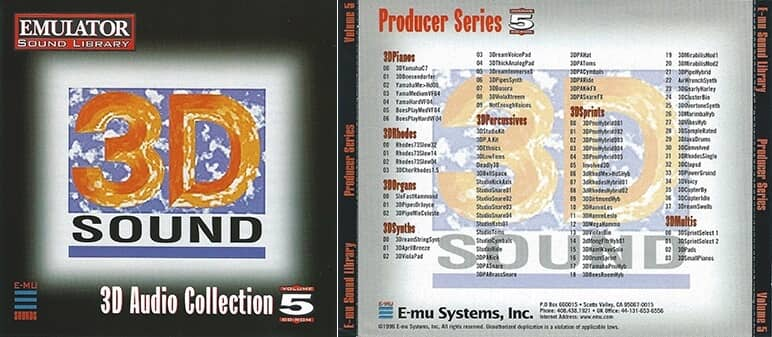 E-MU - Producer Series Vol. 5 - 3D Audio Collection