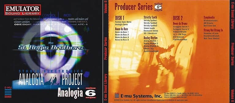 E-MU - Producer Series Vol. 6 - Analogia Project