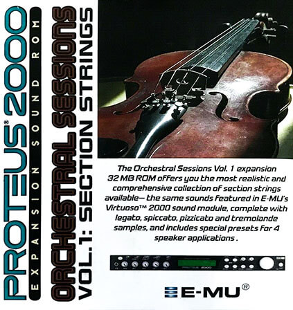 E-MU Orchestral Sessions Vol. 1 Expansion ROM