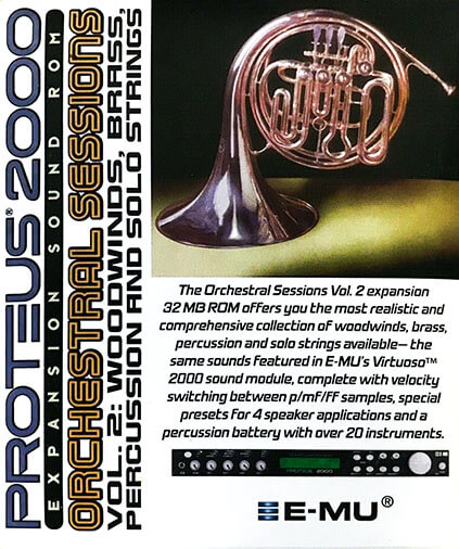 E-MU Orchestral Sessions Vol. 2 Expansion ROM
