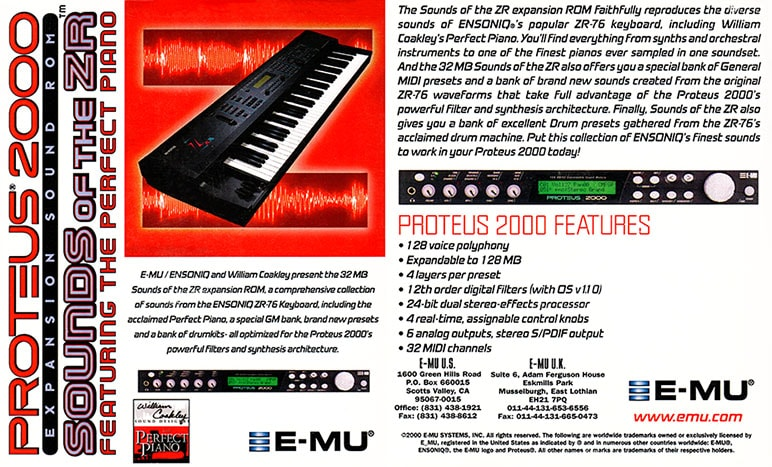 E-MU Sounds of the ZR Expansion ROM