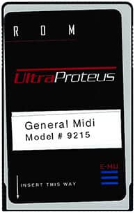 E-MU UltraProteus General MIDI ROM Card